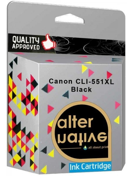 Alternative Canon CLI-551XL Μελάνι Black 6443B001