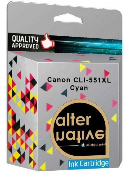 Alternative Canon CLI-551XL Μελάνι Cyan 6444B001