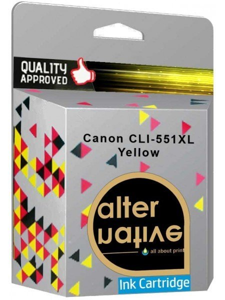 Alternative Canon CLI-551XL Μελάνι Yellow 6444B001