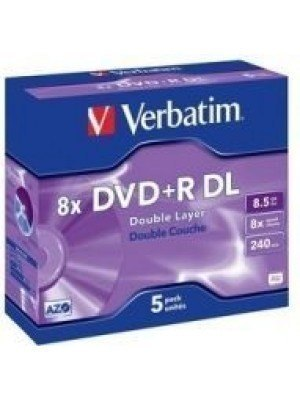 Verbatim DVD+R Dual Layer 8.5GB Jewel Case 5 Τεμάχια