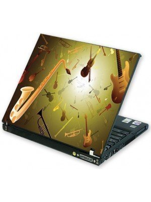 all about print Laptop Skin Κιθάρες