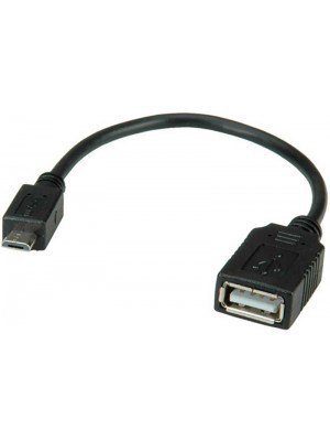 Adapter OTG USB Type-A Female / Type-B Micro 15cm