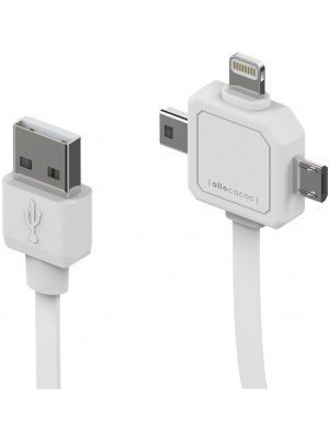 Allocacoc Καλώδιο Usb 3 Ανταπτόρων Micro-Mini-Apple/Lightning