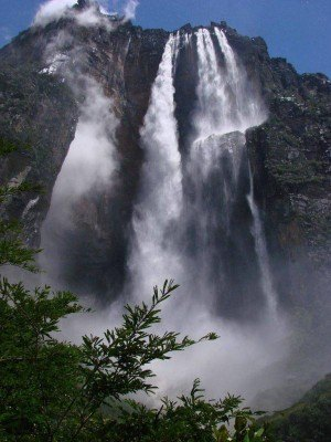 Poster Angel Falls In Canada 75x56cm
