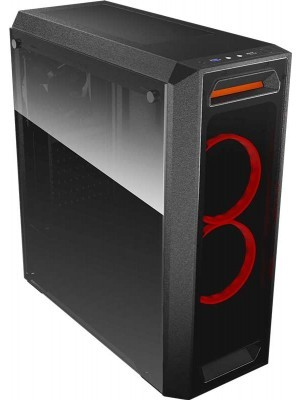 Cougar MX350 Middle ATX Black Tempered Glass Κουτί Η/Υ