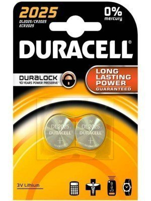 Duracell Electronics 3V Μπαταρία Λιθίου LM2025 CR2025 2 Τεμάχια