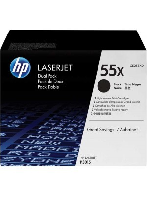 HP 55X Dual Pack Toner Black CE255XD