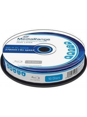 MediaRange BD-R DL Blu-Ray 50GB 6x Cake Box 10 Τεμάχια