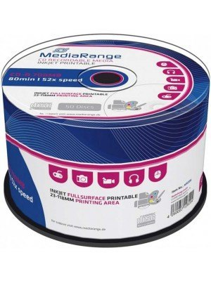 MediaRange CD-R 700MB 80' 52x Cake Box 50Τεμάχια Printable