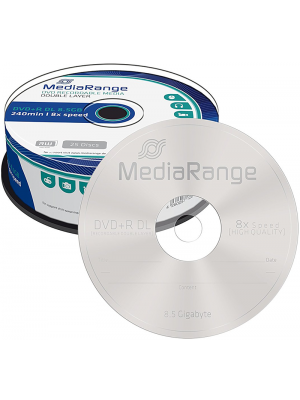 MediaRange DVD+R Dual Layer 8.5GB 8x Cake Box 25 Τεμάχια
