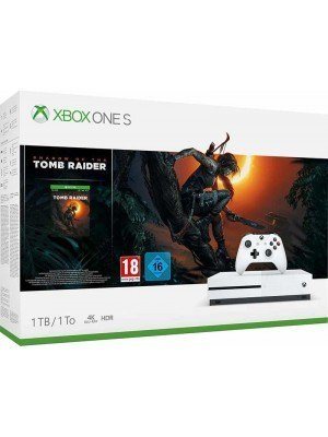 Microsoft Xbox One S 1TB Λευκό & Shadow of the Tomb Raider