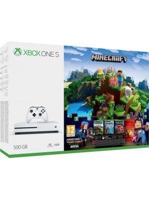Microsoft Xbox One S 500GB Λευκό & Minecraft & Minecraft Story Mode Season 1 Complete
