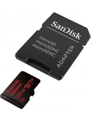 SanDisk microSD Extreme 128GB 100MB/s V30 UHS-I U3 A1+SD Adapter