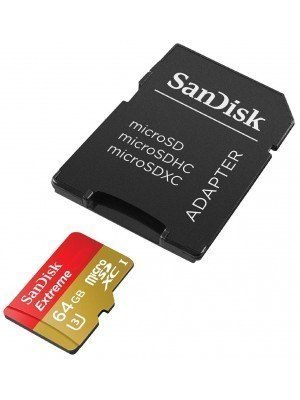 SanDisk microSD Extreme 64GB 90MB/s + SD Adapter For Action Camera