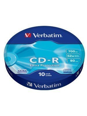Verbatim CD-R 700MB Extra Protection Wrap 10 Τεμάχια