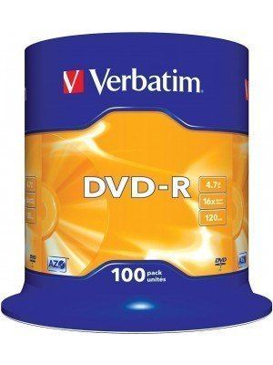 Verbatim DVD-R 120' 4.7GB 16x Cake Box 100Τεμάχια