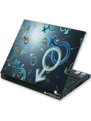 all about print Laptop Skin Σύμβολο Male-Female
