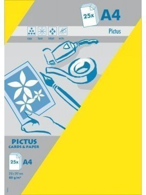 Pictus A4 Χαρτί Κίτρινο 200gr 25 Τεμ.