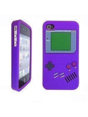 all about print Θήκη iPhone 4 Gameboy Μωβ