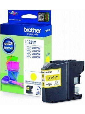 Brother LC-221Y Original Μελάνι Yellow