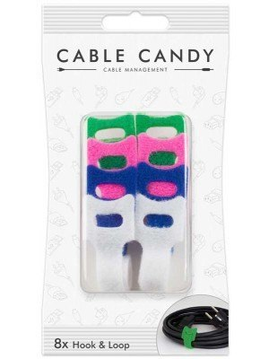 Cable Candy CC006 Υφασμάτινη Θηλιά Χρώμα 8 Τεμάχια