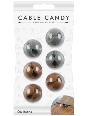 Cable Candy CC020 Φασολάκια Γκρι & Καφέ 6 Τεμάχια