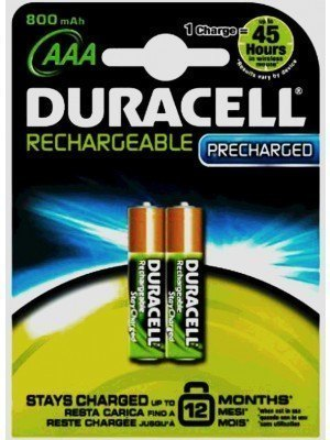 Duracell DC NL 2BCd SCA 1.2V Επαναφορτιζόμενη Μπαταρία LR03 AAA 2Τεμ.