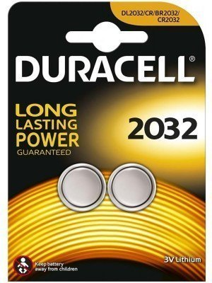 Duracell Electronics 3V Μπαταρία Λιθίου LM2032 CR2032 2 Τεμάχια