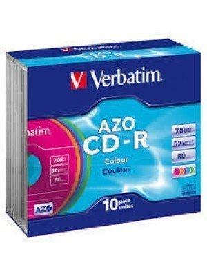 Verbatim CD-R 700MB Slim Case Color 10 Τεμάχια