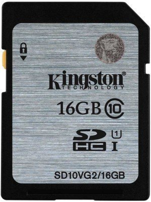 Kingston SDHC UHS-I 16GB Class 10 Κάρτα Μνήμης