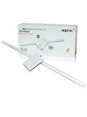 Approx Wirel 150 Mbps USB Adapter +11DB Ant. APPUSB150H3 62199