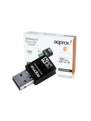 Approx Wireless USB Adapter 300 Mbps APPUSB300NANO 62210