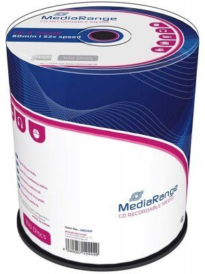 MediaRange CD-R 700MB 80' 52x Cake Box 100 Τεμάχια MR204