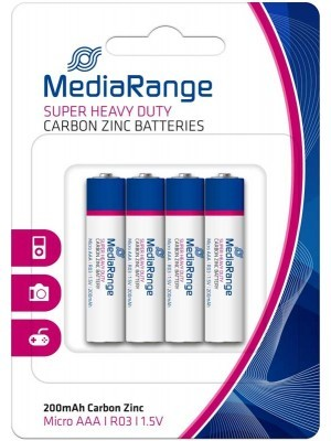 Mediarange Super Heavy Duty Μπαταρία R03 AAA 4 Τεμάχια