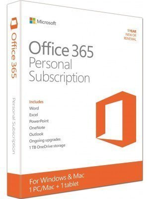 Microsoft Office 365 Personal Eng - 1 Άδεια PC/Mac + 1 Tablet