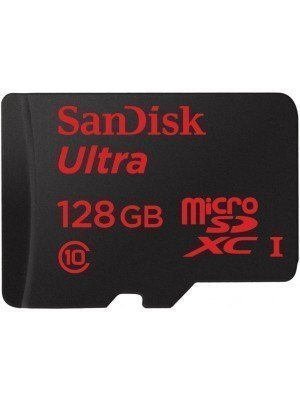 SanDisk microSD Ultra Android 128GB 80MB/s + SD Adapter