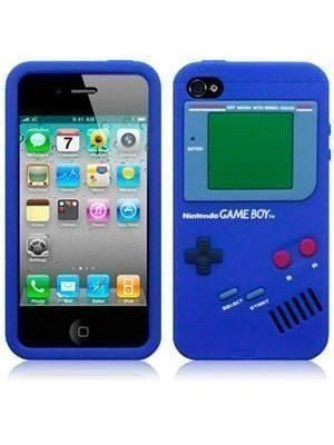 all about print Θήκη iPhone 4 Gameboy Μπλε