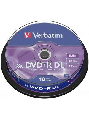 Verbatim DVD+R Dual Layer 8.5GB 8x Matt Silver Surface 10 Τεμάχια
