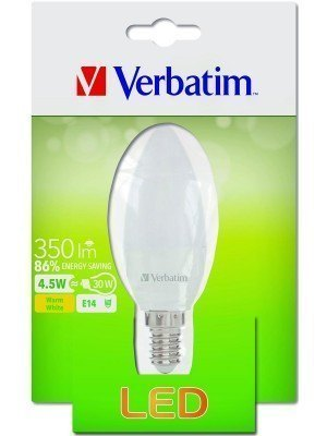 Verbatim LED Candle E14 4.5W-30W 2700K 350LM Frost