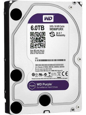 "Western Digital Purple HDD 6TB 3.5"" Σκληρός Δίσκος"